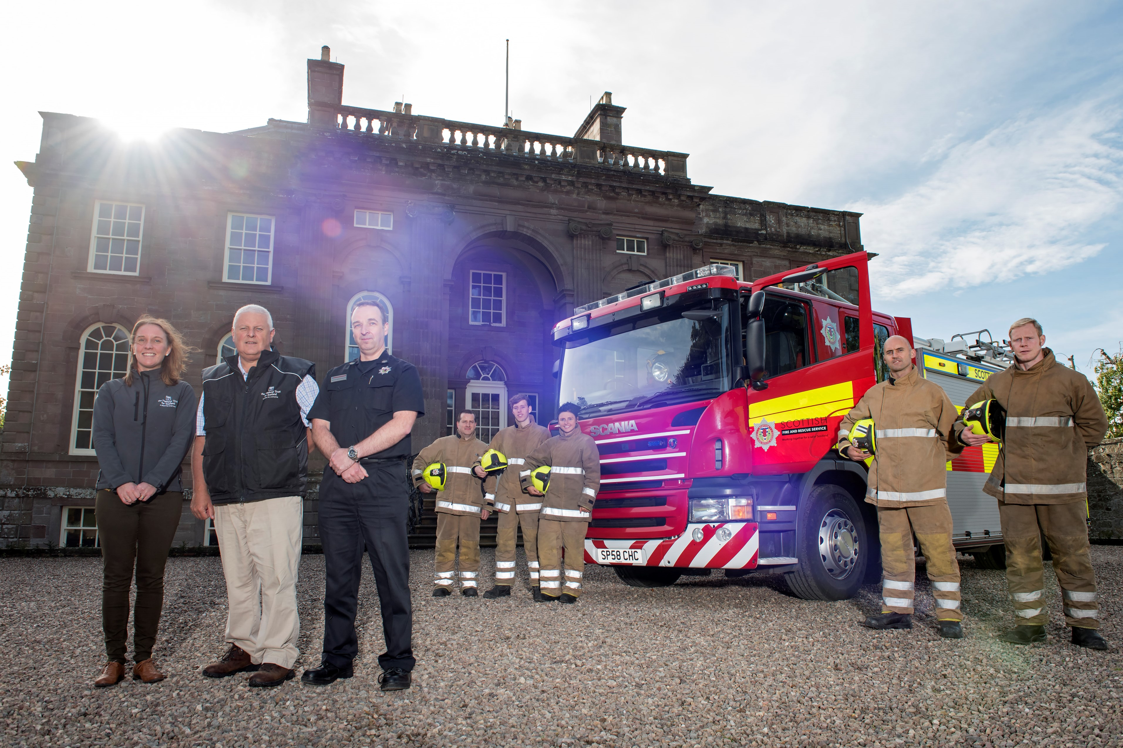 SFRS and National Trust partnership to protect Scotland's history
