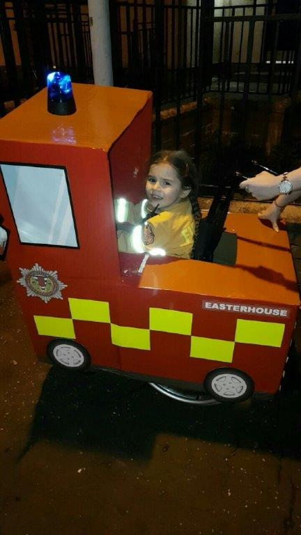 Little Macie converts wheelchair into SFRS appliance for Halloween