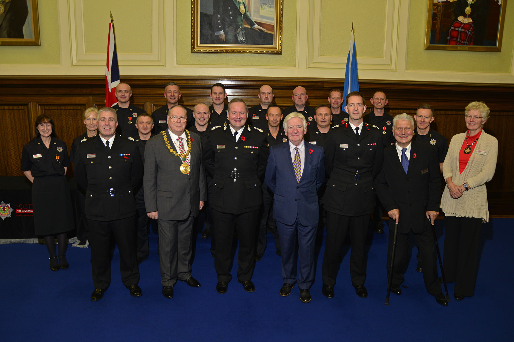 Firefighters honoured at Dundee City Chambers