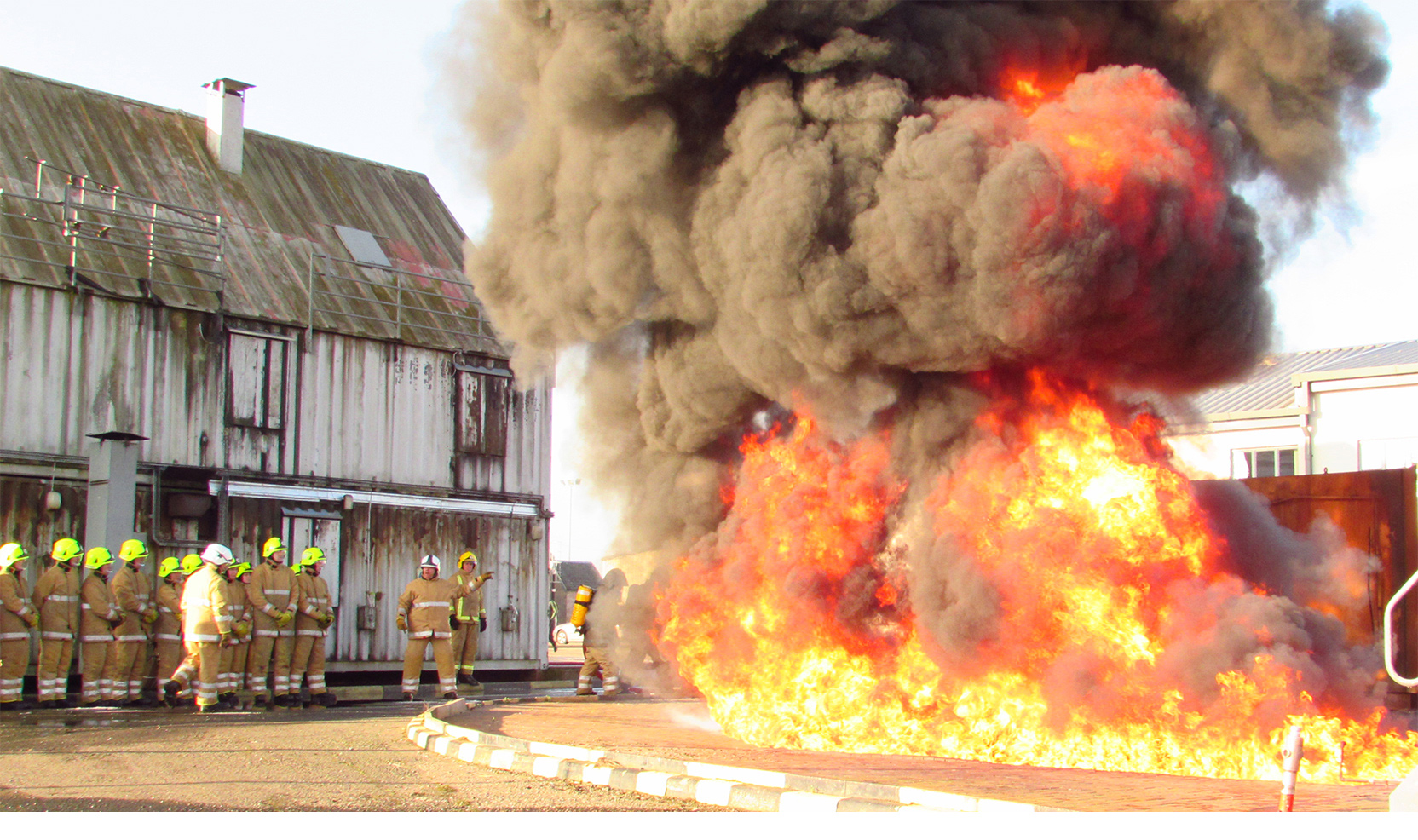 New SFRS recruits experience the dangers of fire