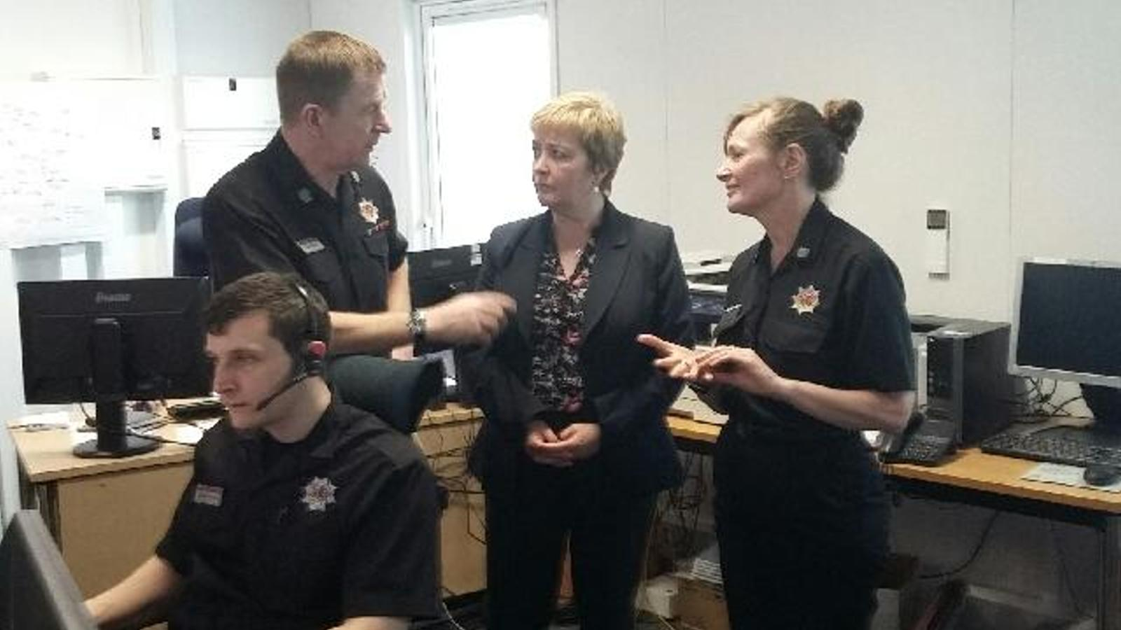 MSP Rhoda Grant visits Dundee Control Room