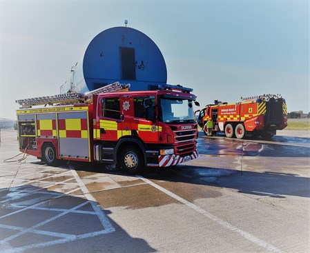 SFRS appliances with AFRS major foam tender