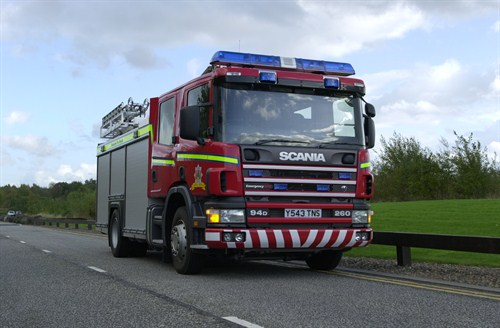 Volunteer crew responds to island fire