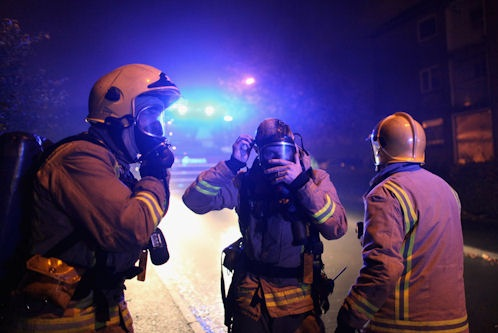 Two rescued from North Lanarkshire fire