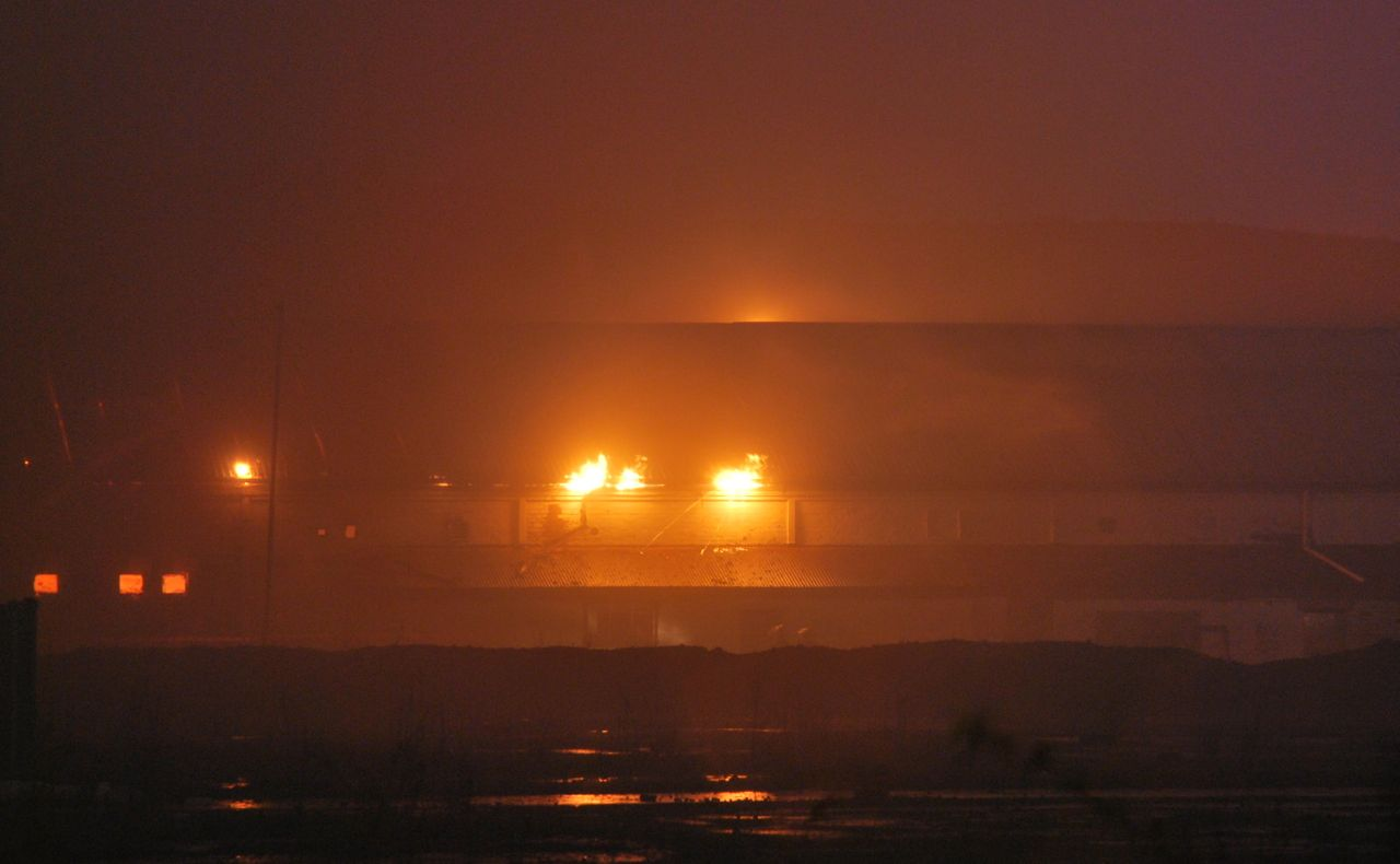 Industrial park blaze on outskirts of Glasgow