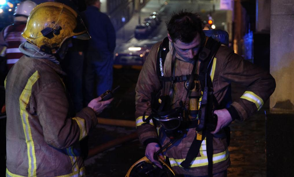 Fire in block of flats in Glasgow's Southside