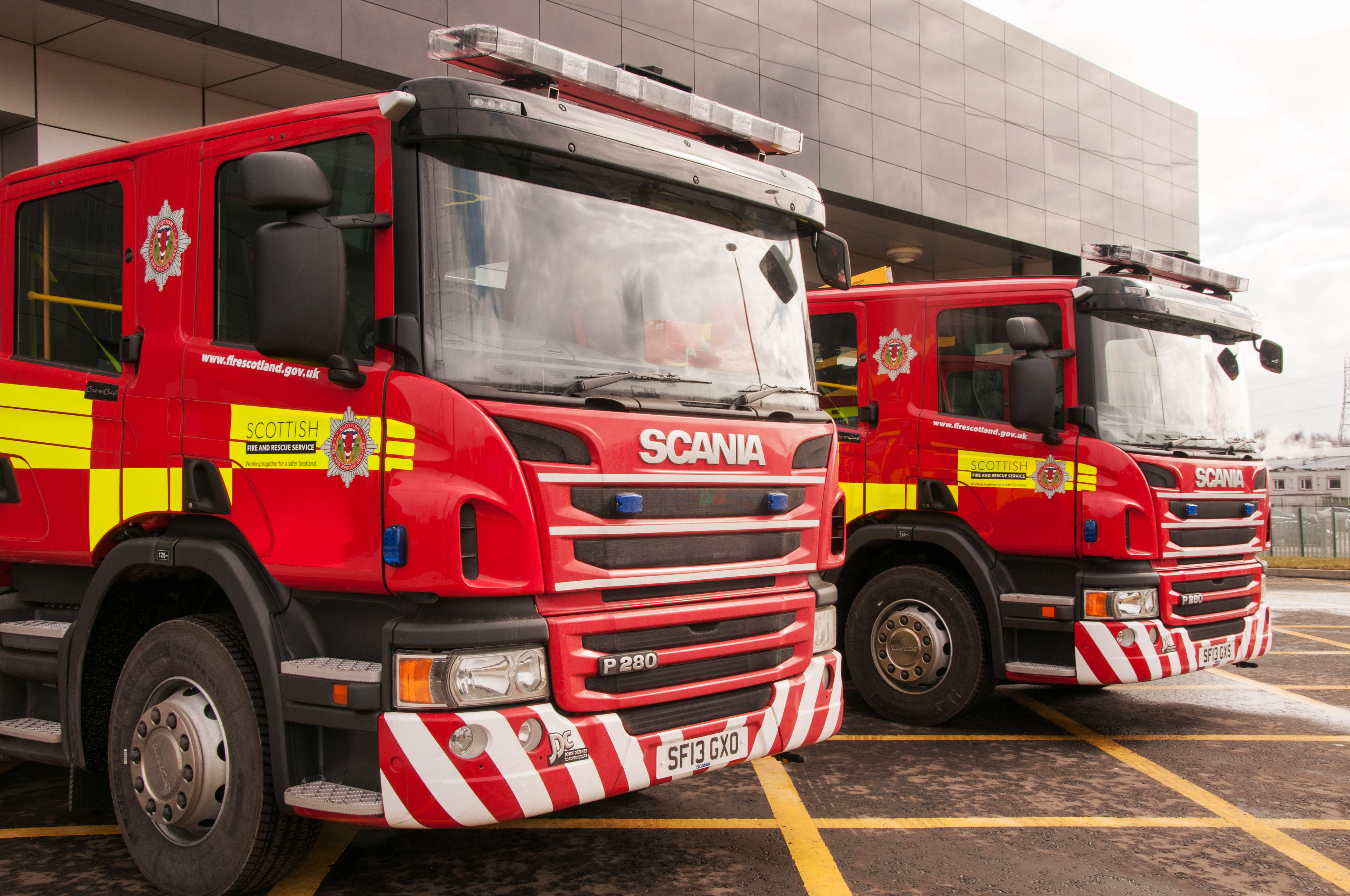 Two treated for smoke inhalation in North Lanarkshire