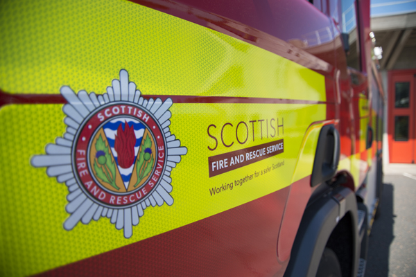 Fire at disused visitor centre in Elgin