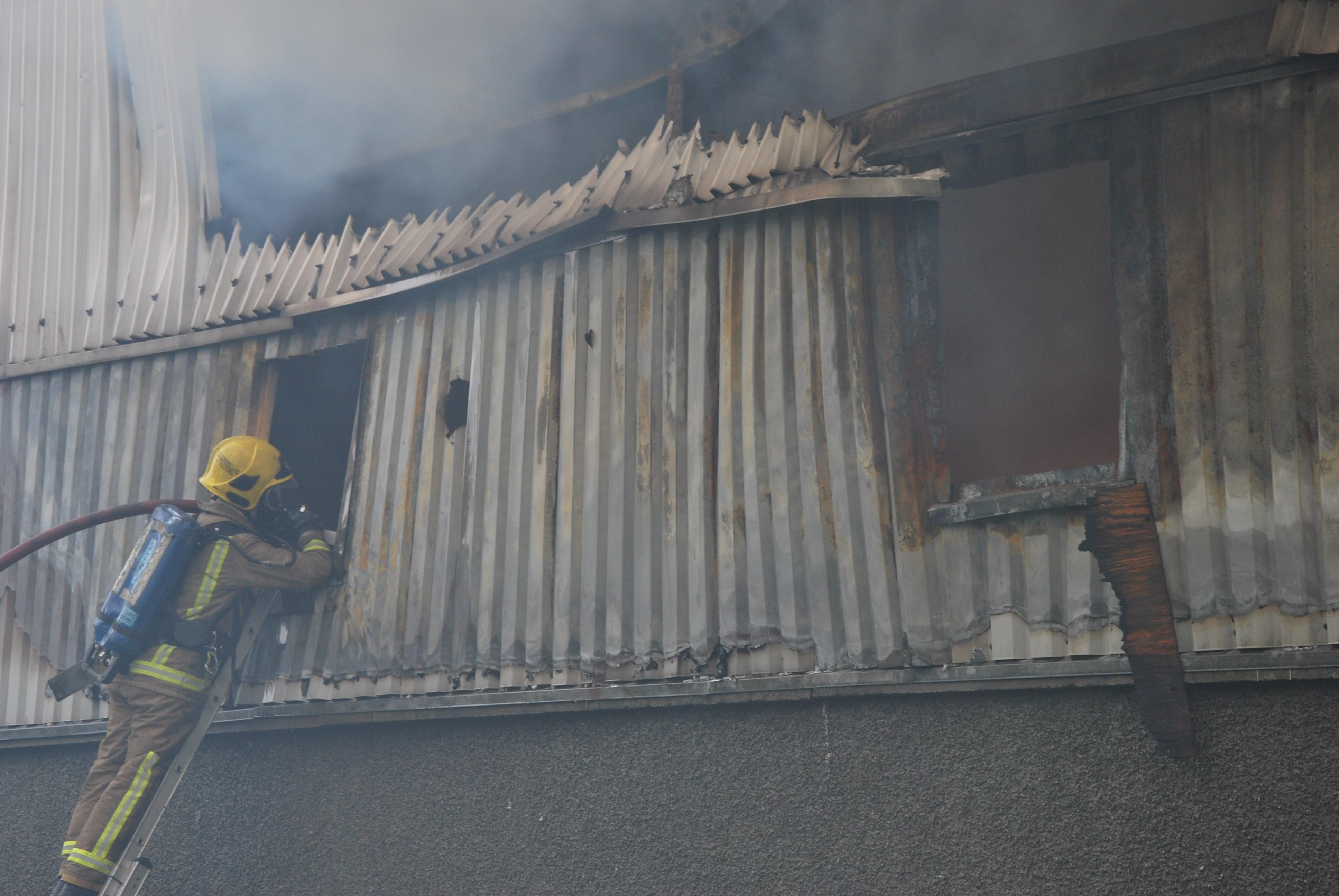 Ayrshire crews tackle industrial unit blaze