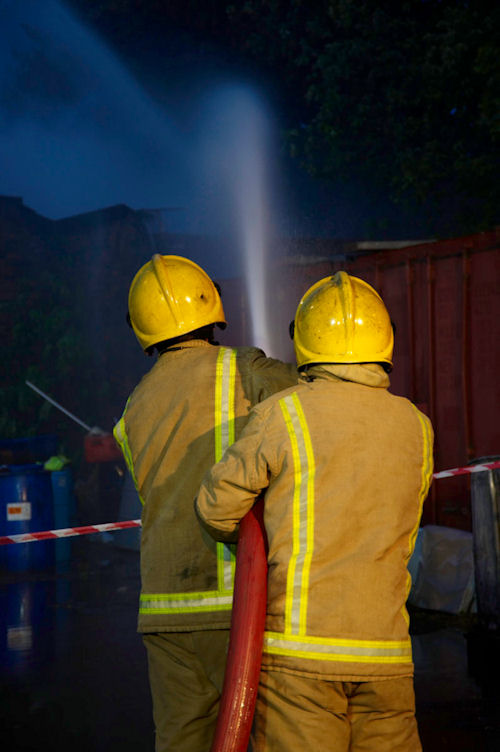 Large fire at derelict house in Inverness