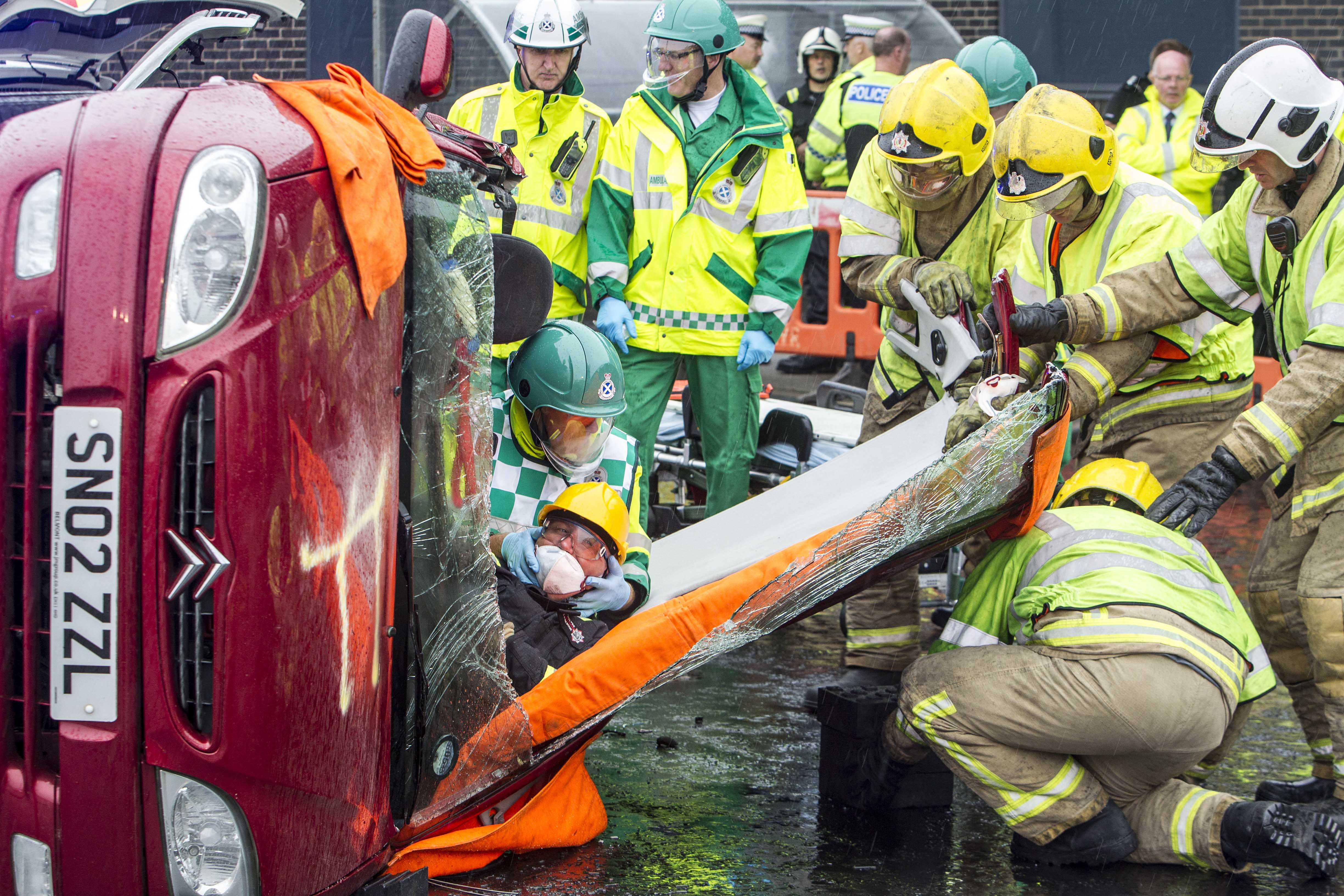 Road rescue in South Ayrshire