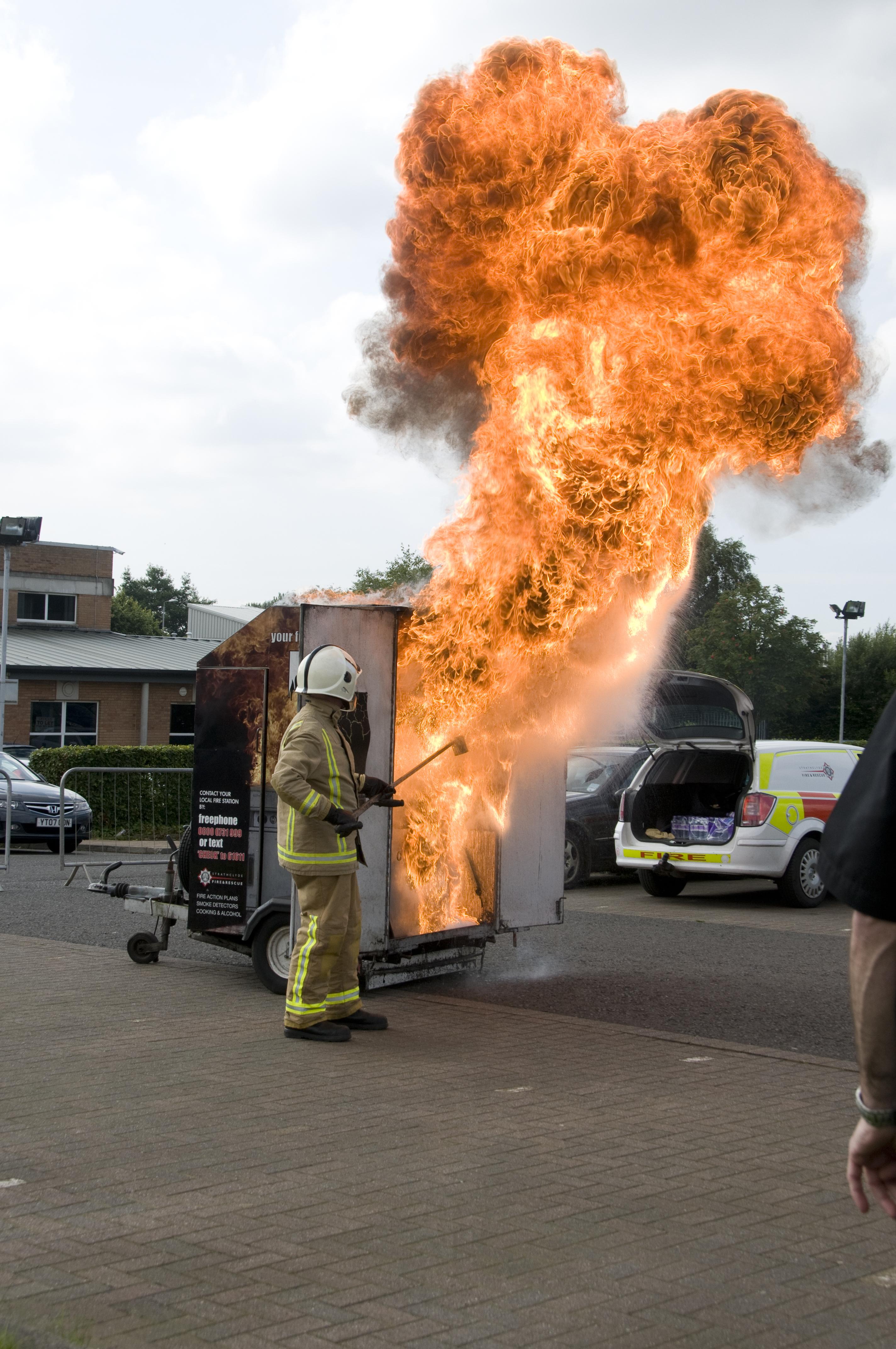 Chip pan fire in Edinburgh