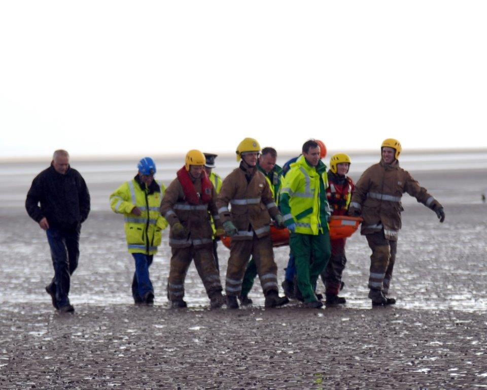 Girl rescued from quicksand