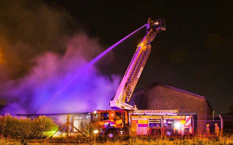 Fire in East Dunbartonshire industrial unit