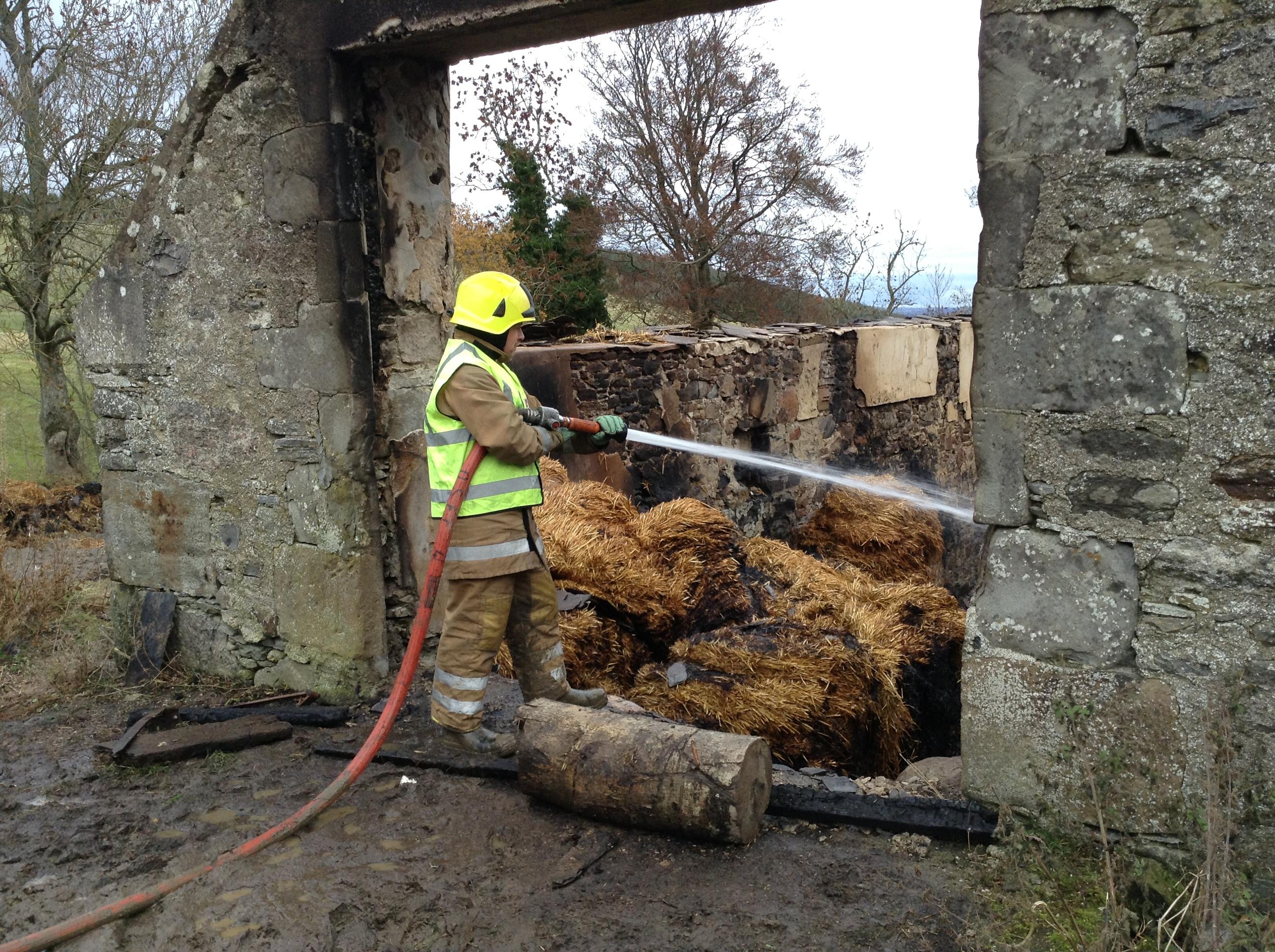 Fire at farm in Dingwall