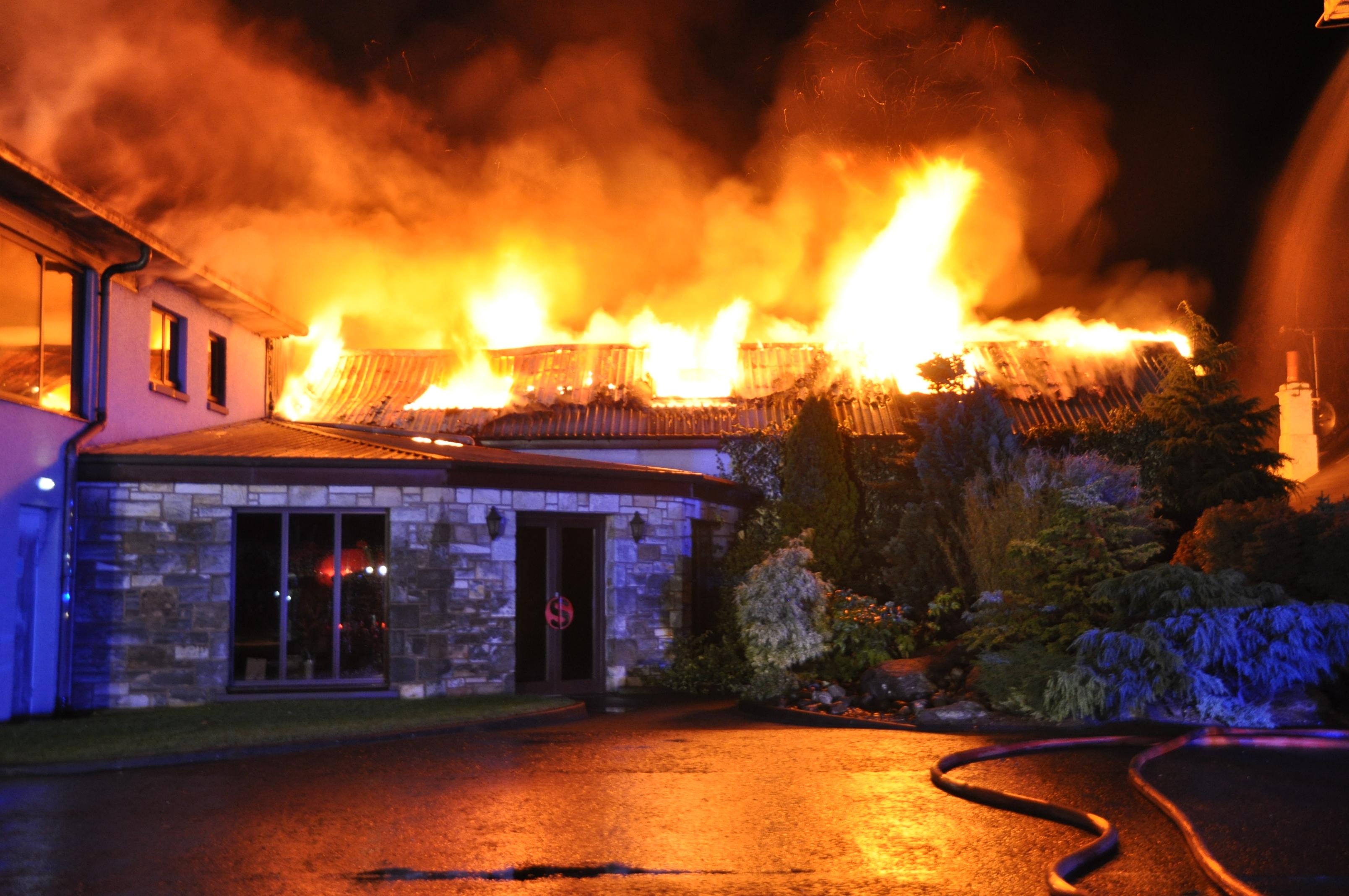 Farm fire at Tullibody, Alloa