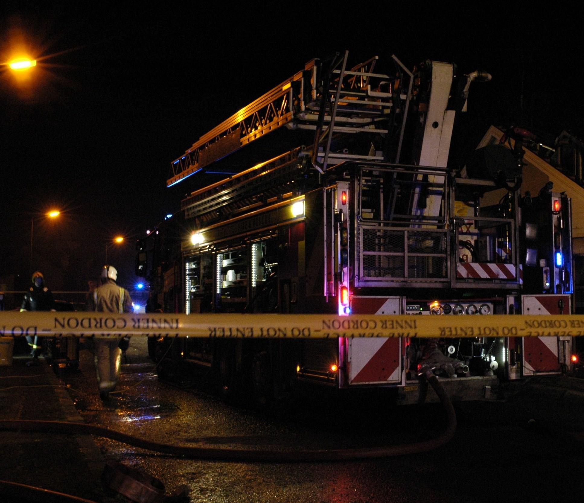 Fire at multi-storey in Falkirk
