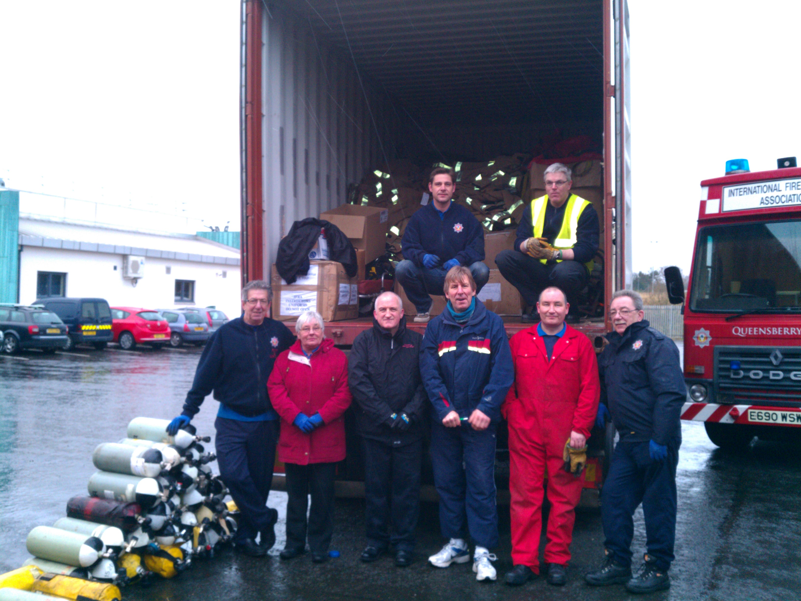 International Fire and Rescue Association ready for their next mission to Albania