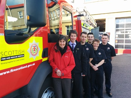 Melanie Smith , Peter Dennis And Firefighters Who Saved Her Life