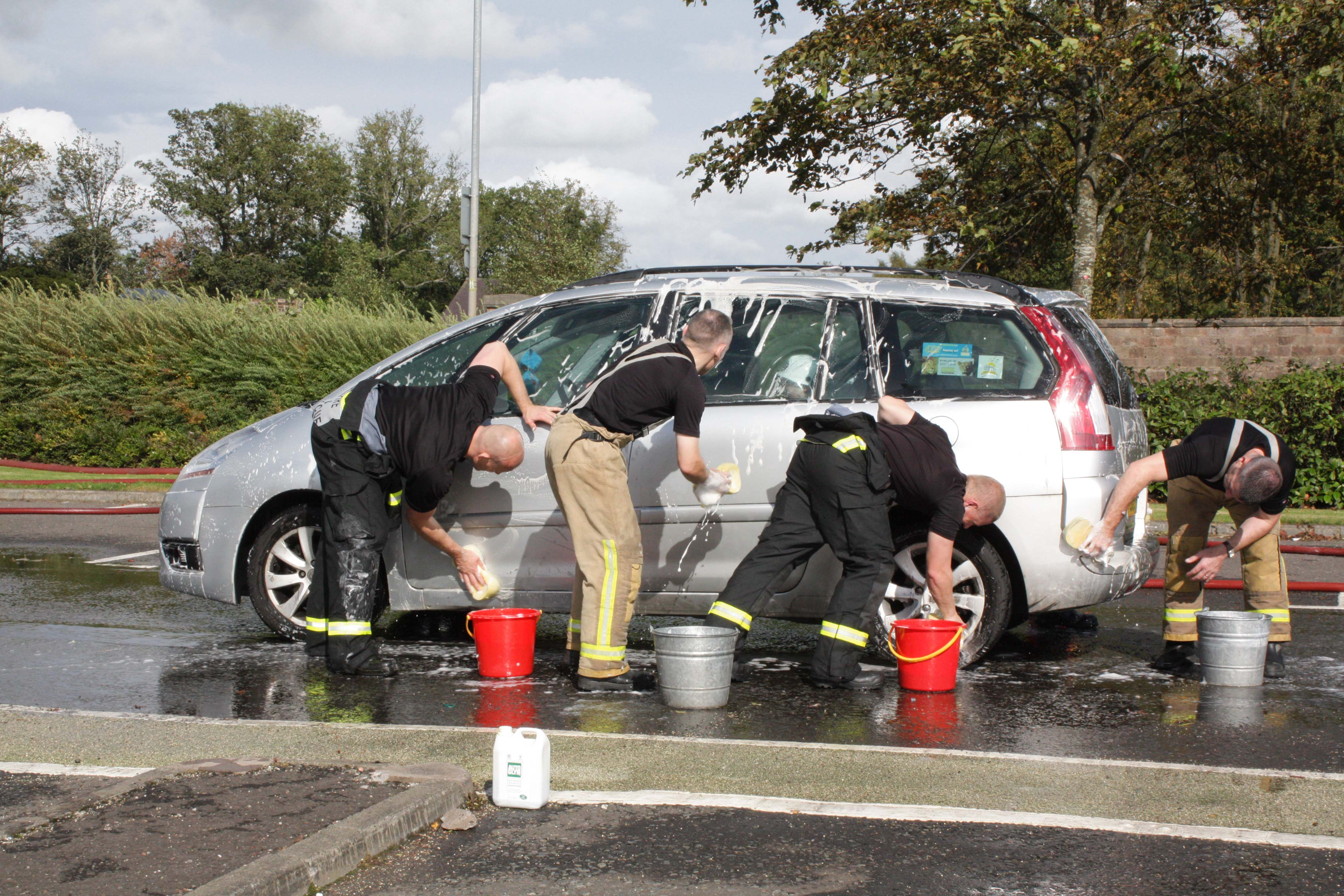 Milngavie firefighters scrub up well