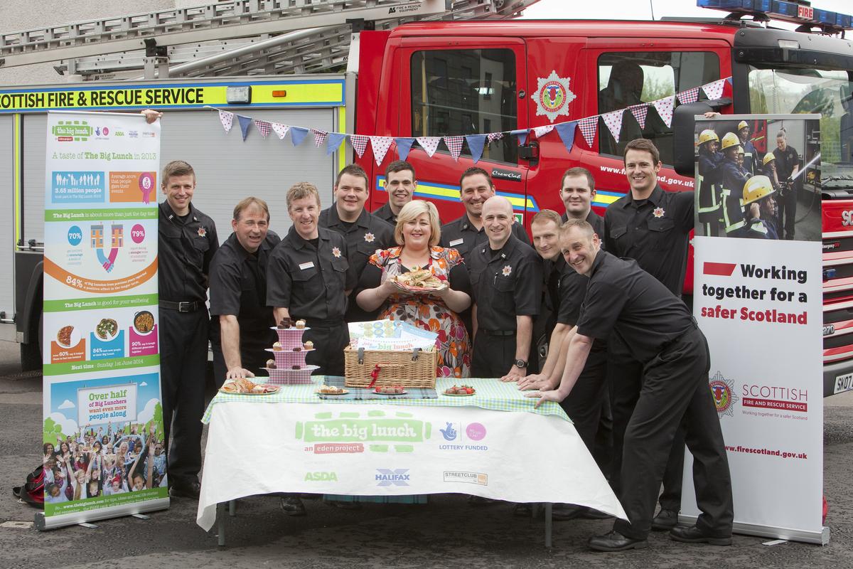 Michelle McManus visits friendly fire crew to hear Big Lunch plans
