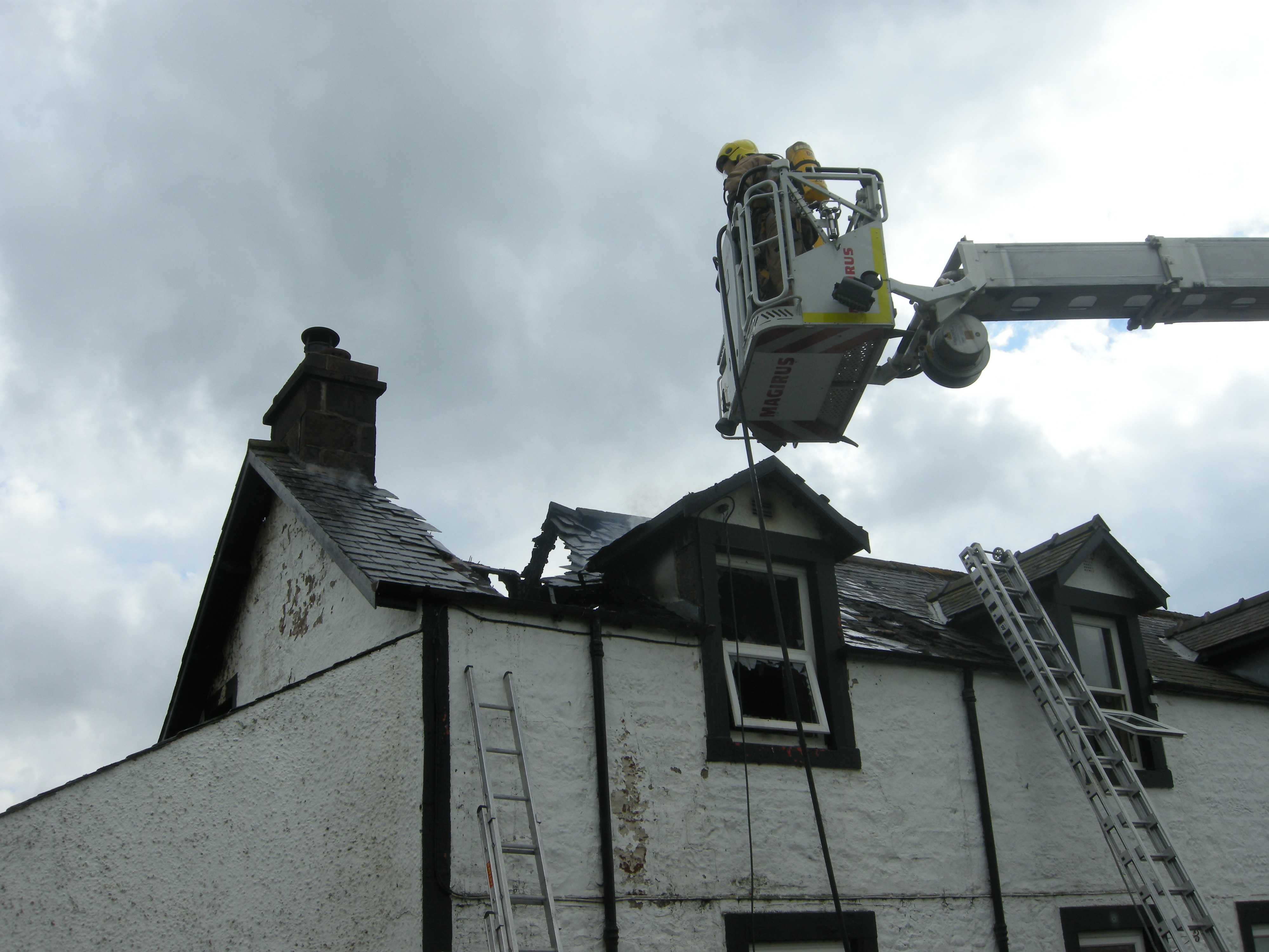 Fire at a cottage in Johnstone Bridge