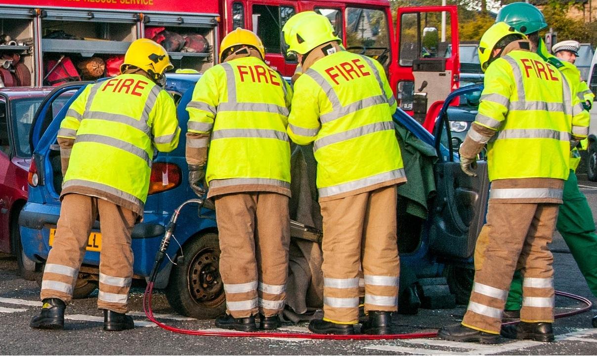 Woman cut free after a road traffic collision in Edinburgh