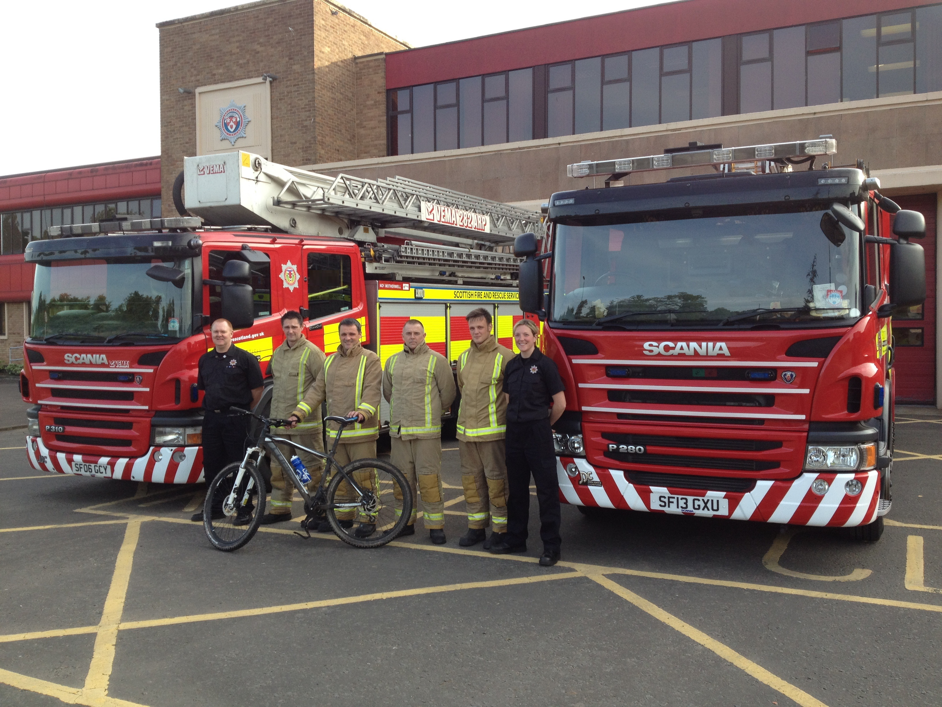 Hamilton firefighters get on their bikes
