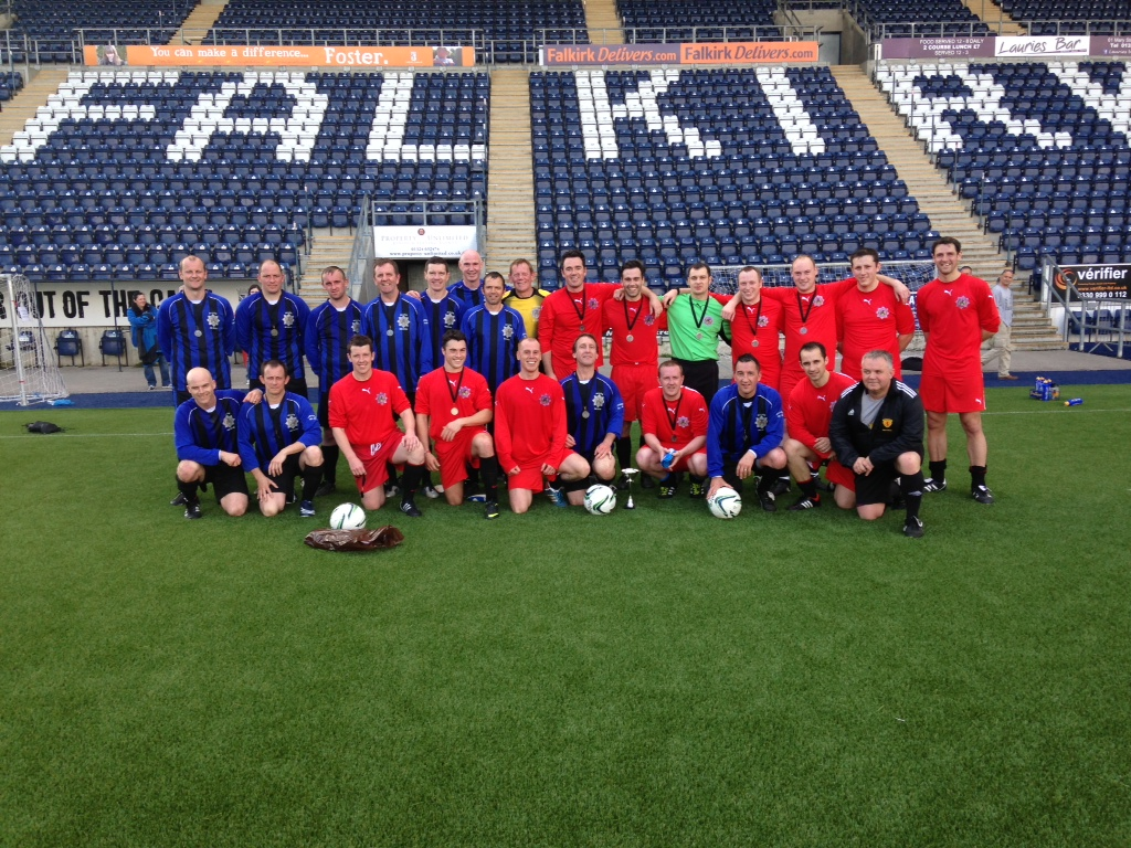 Charity football match for The Fire Fighters Charity