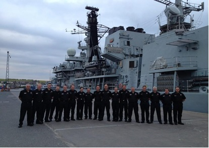 Montrose firefighters tour of HMS Montrose