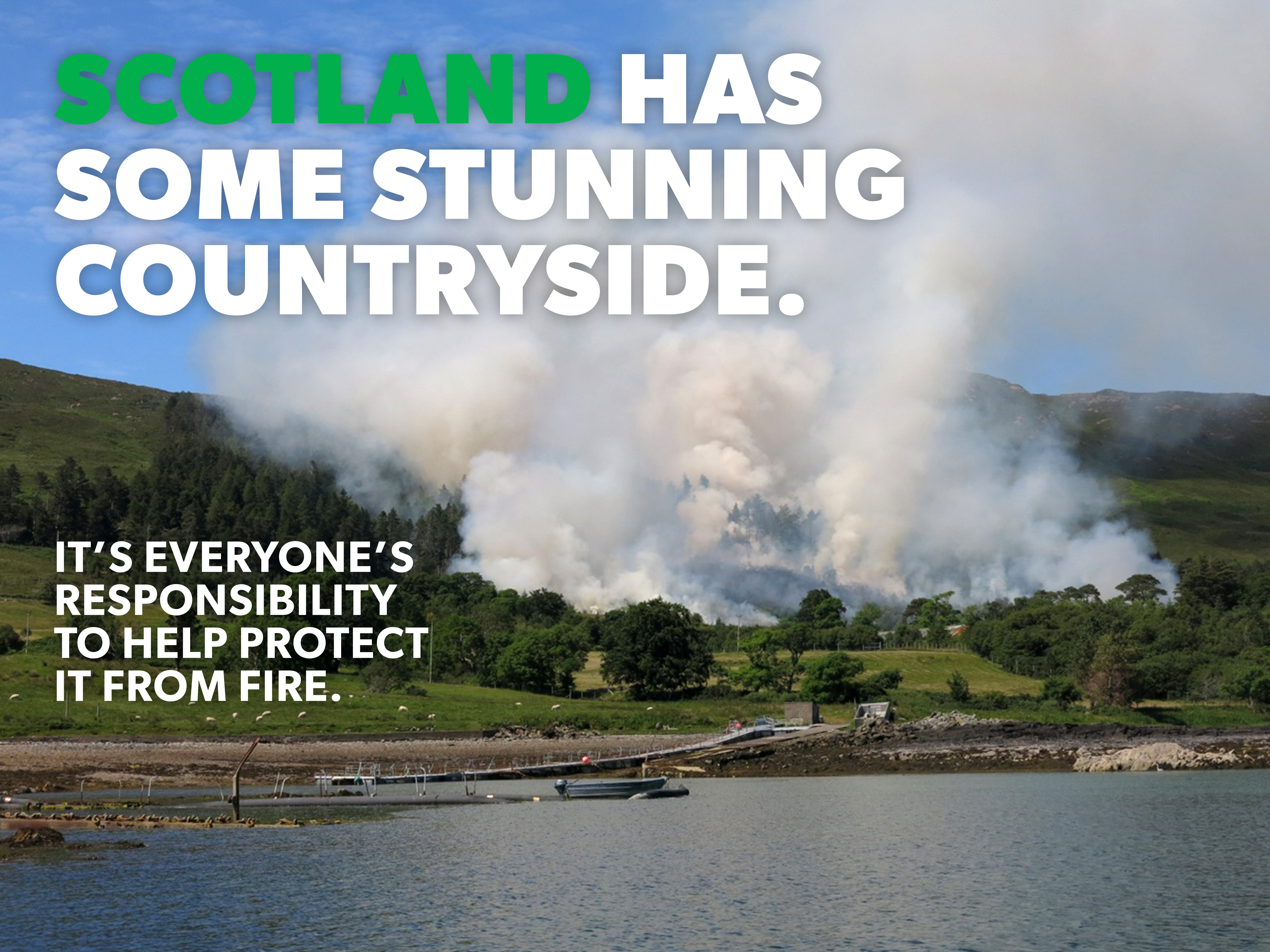 SFRS dealing with wildfire in Lews Castle area of Stornoway