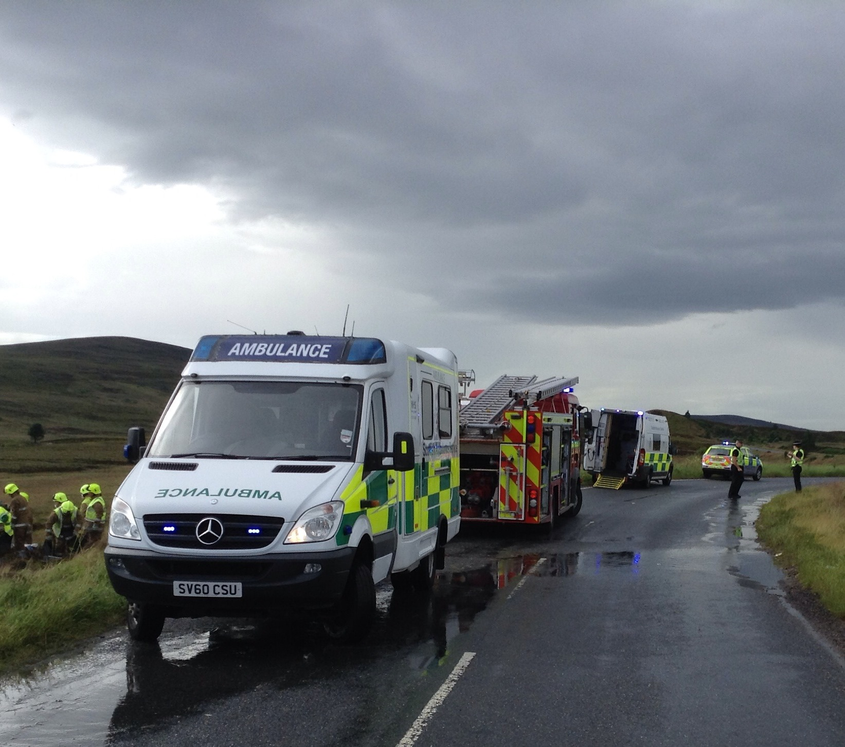 Crews cut woman free from road traffic collision on Dava Moor