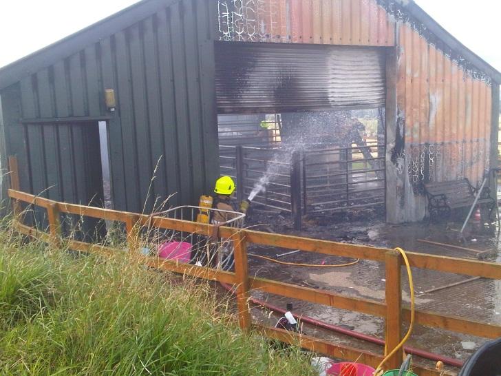 Fire at Bonnyton Farm, near Montrose