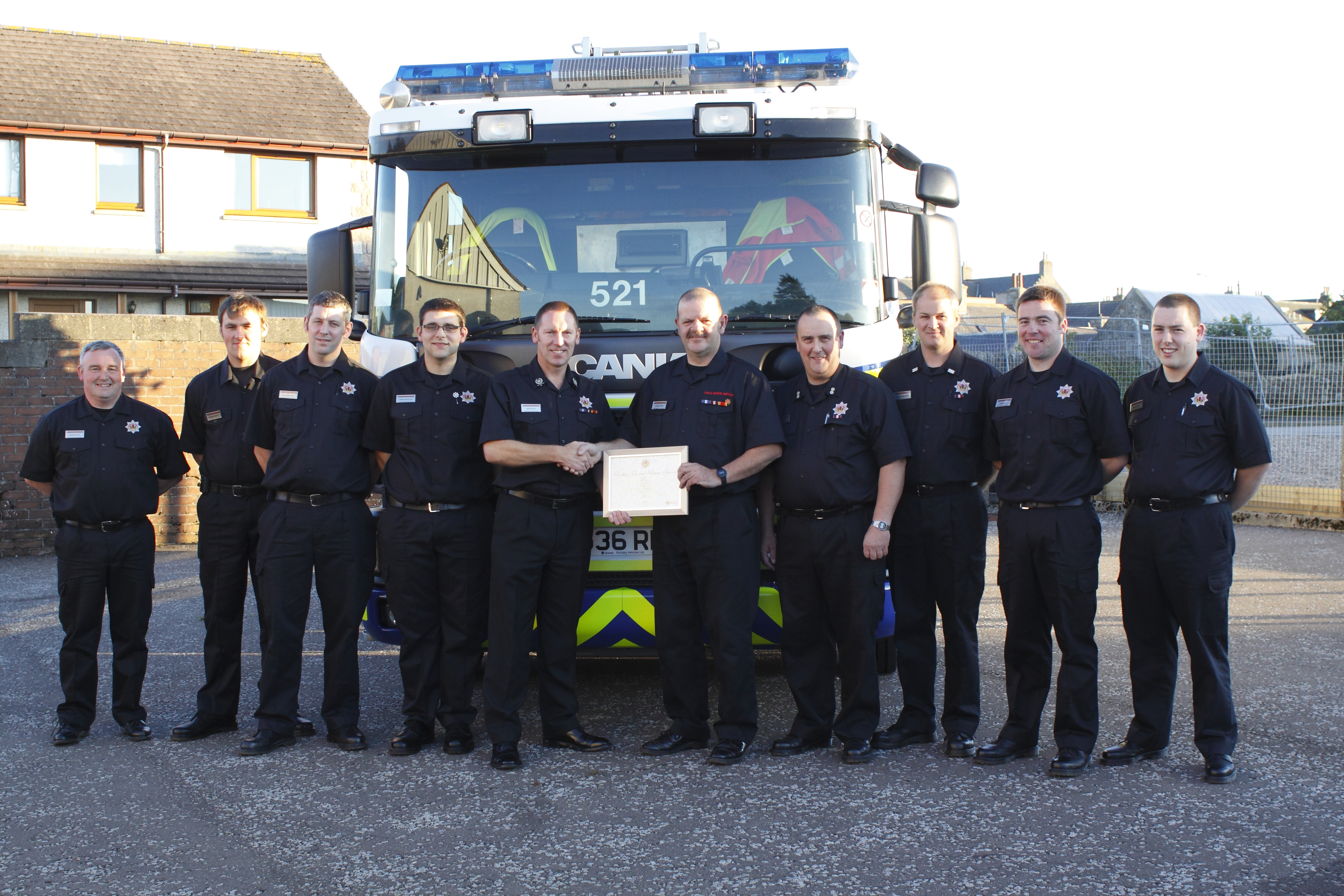 SFRS recognises 20 years of service by Aberdeenshire firefighter
