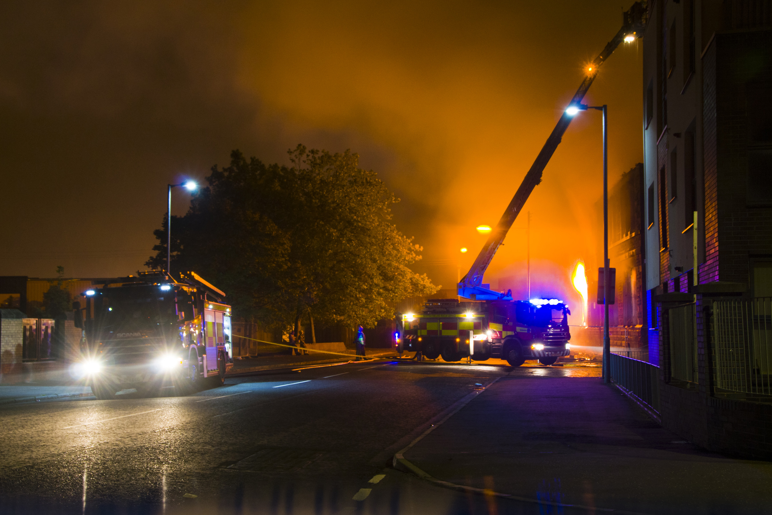 Fire at derelict school in Glasgow's Southside