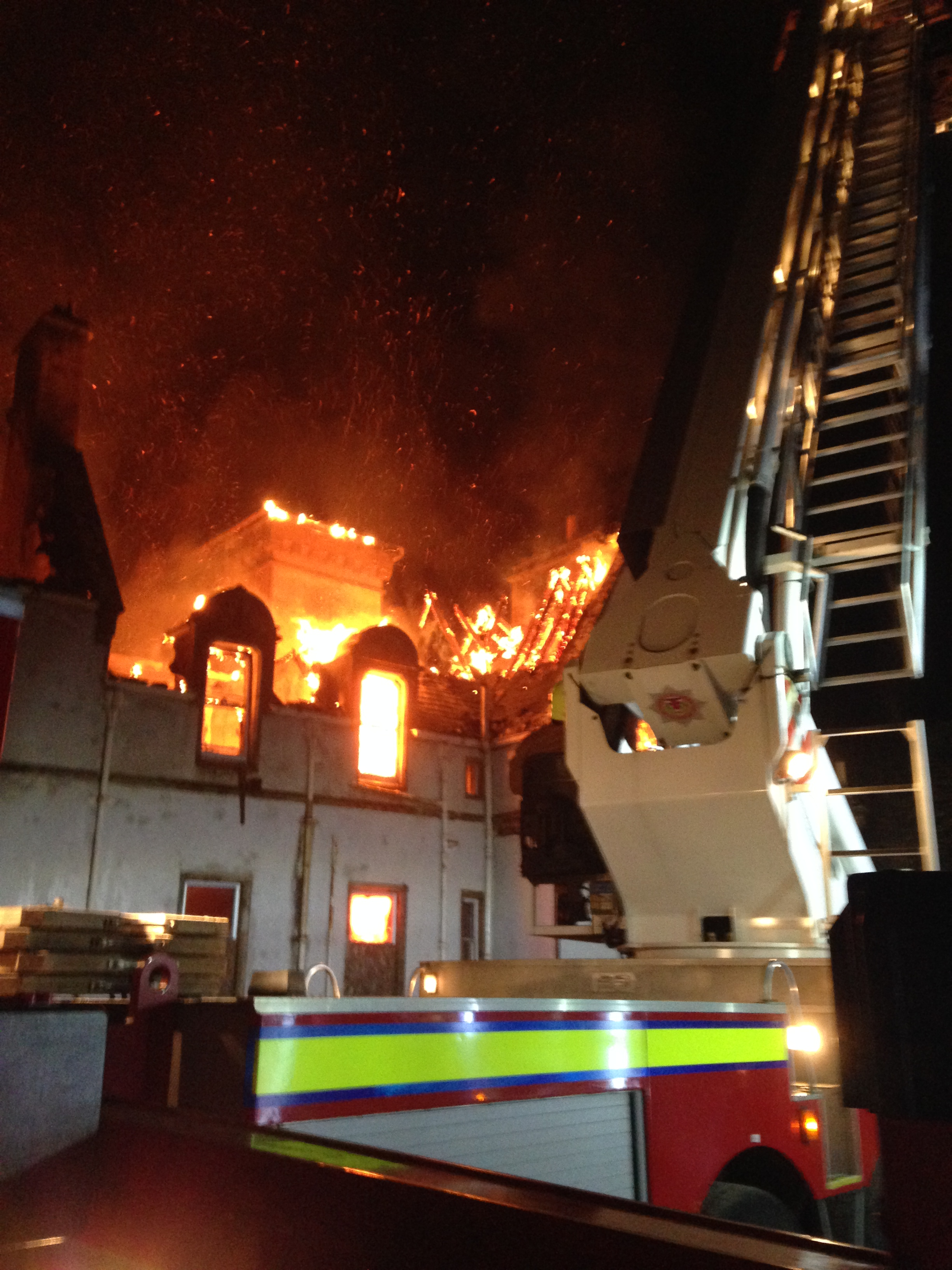 Major fire at Dunain House, Inverness
