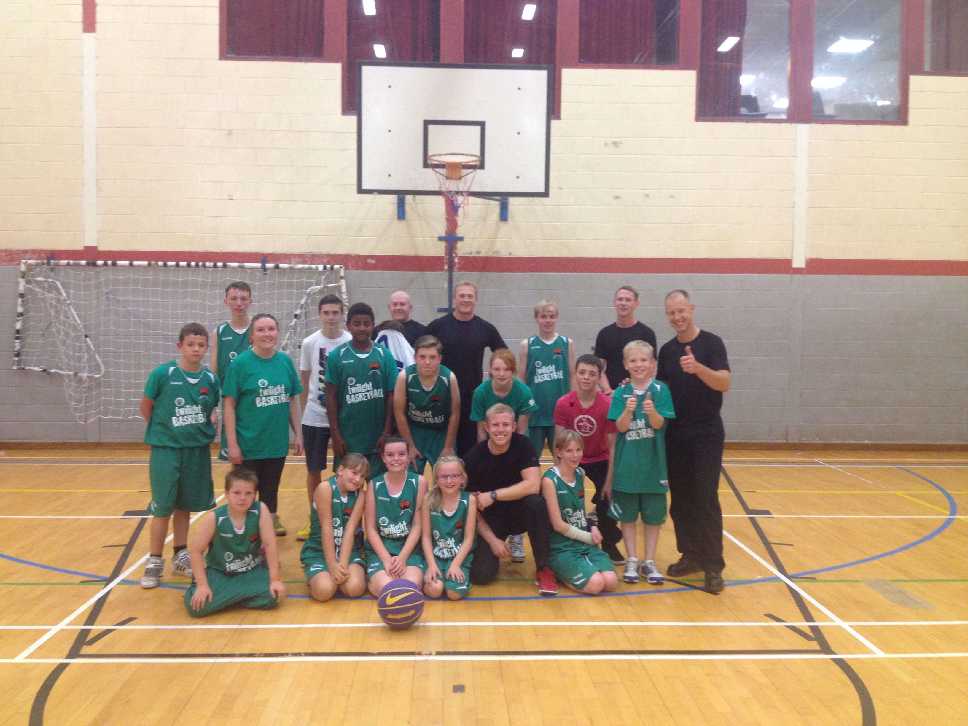 Lochgelly crew take on the basketball challenge