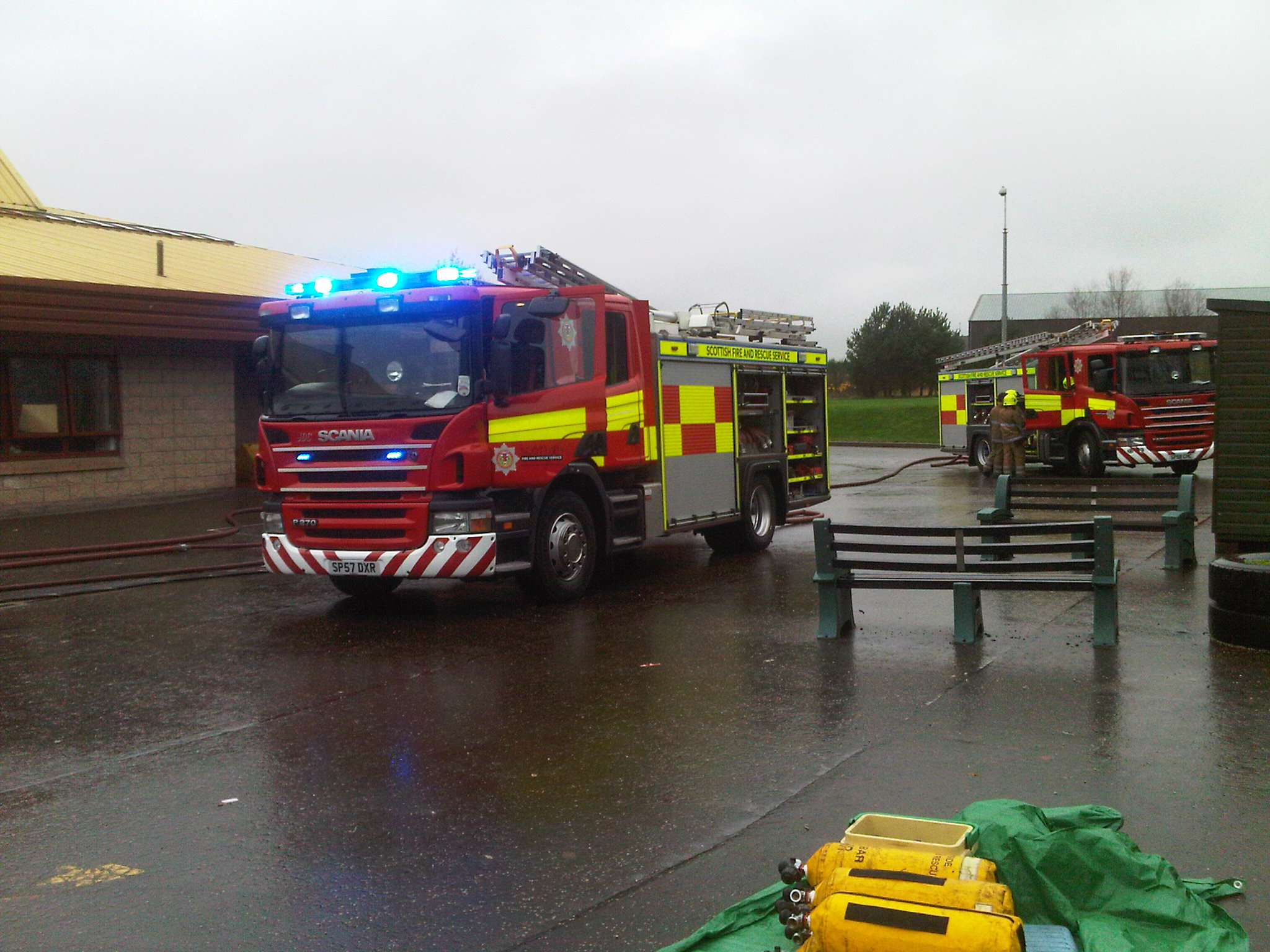 Crews still at scene following Brechin primary school fire