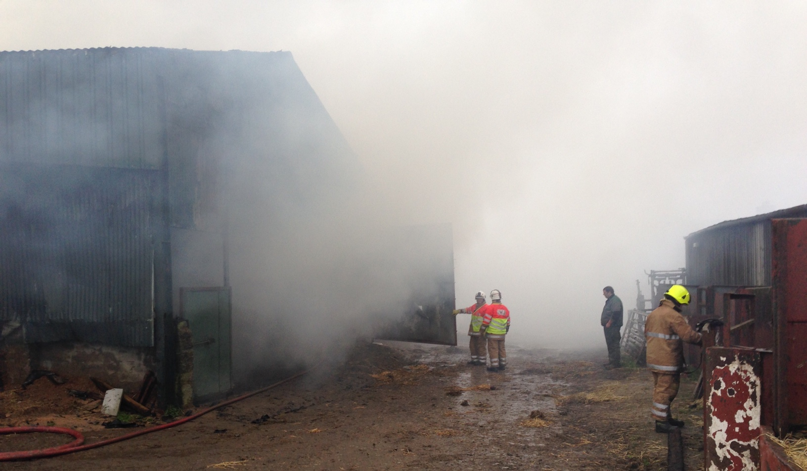 Crews remain at scene of large steading fire near Keith, Aberdeenshire