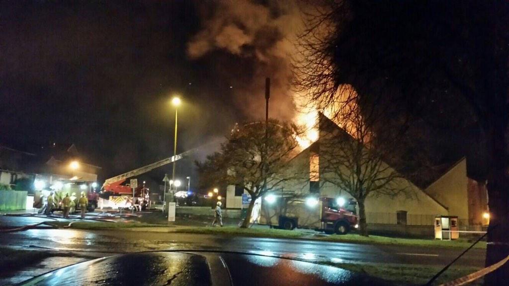 Crews tackle large fire at St Paul's in Edinburgh