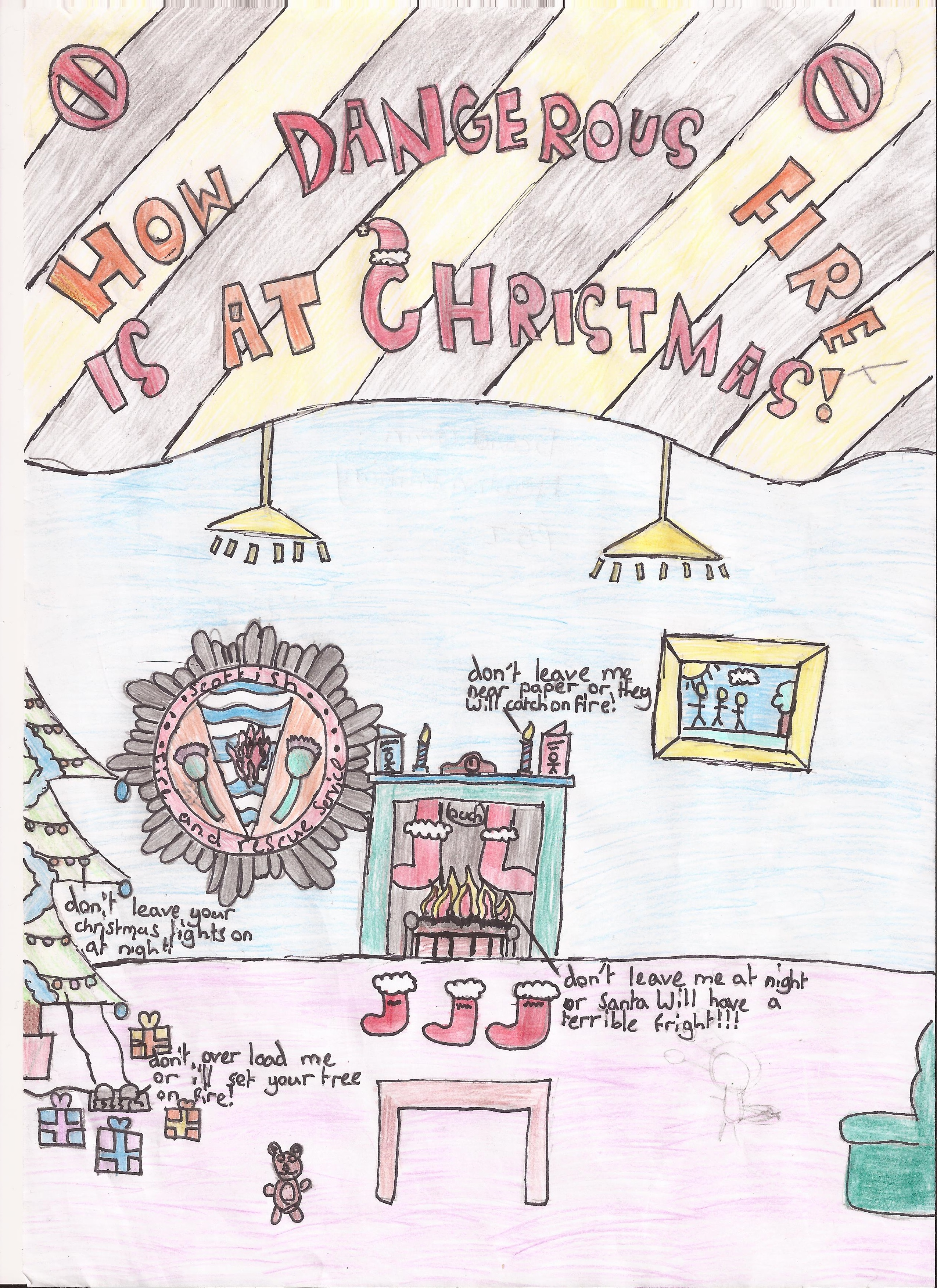 Primary schools in the Stirling area help raise awarness of Christmas safety