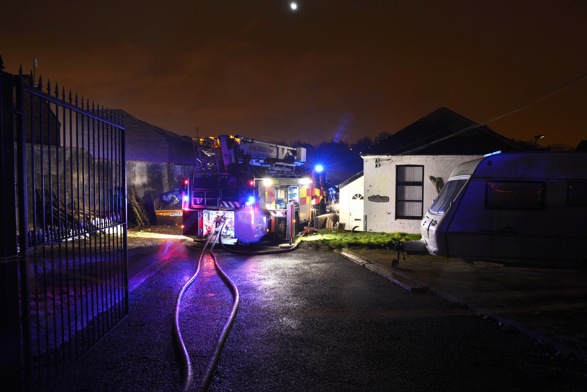 Large fire in Paisley industrial units