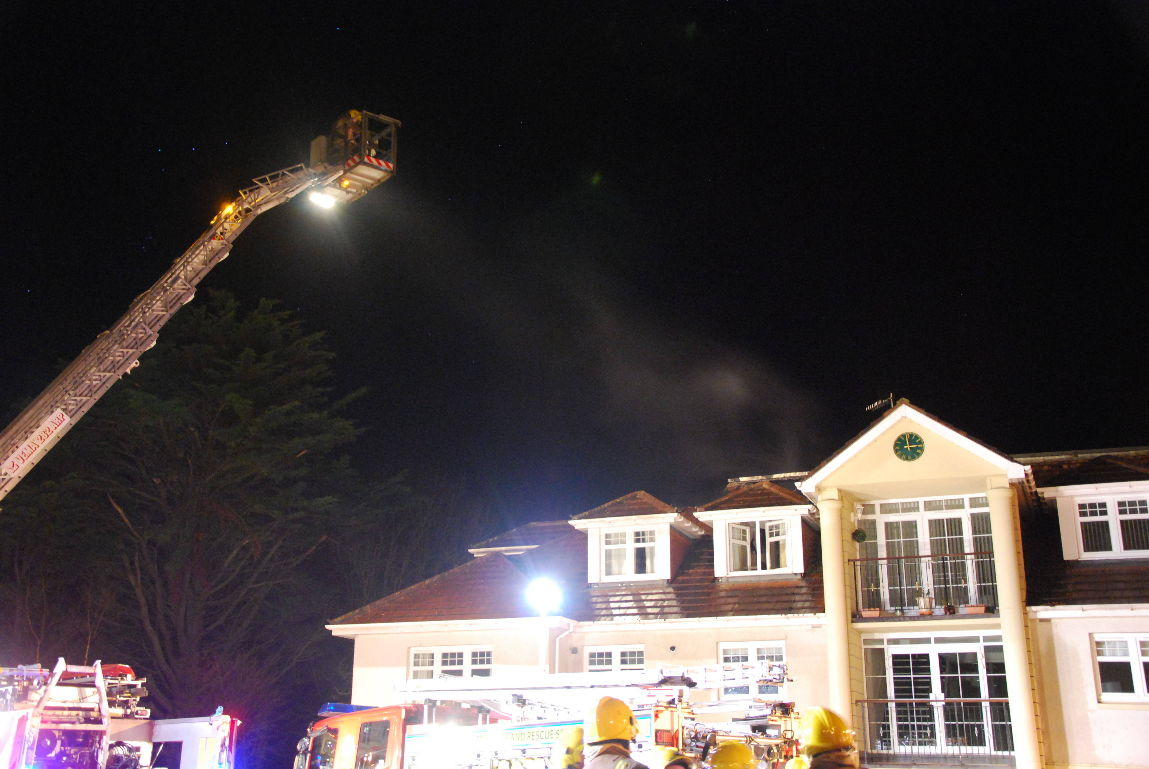 Crews from across Ayrshire tackle Turnberry flat blaze
