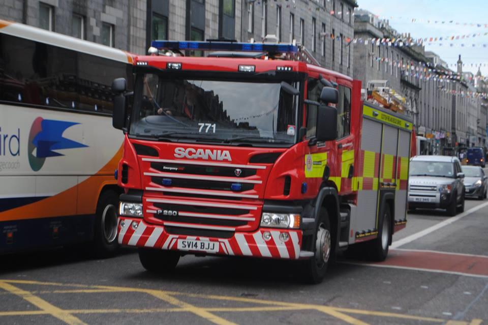 Crews rescued people from Aberdeen flat fire