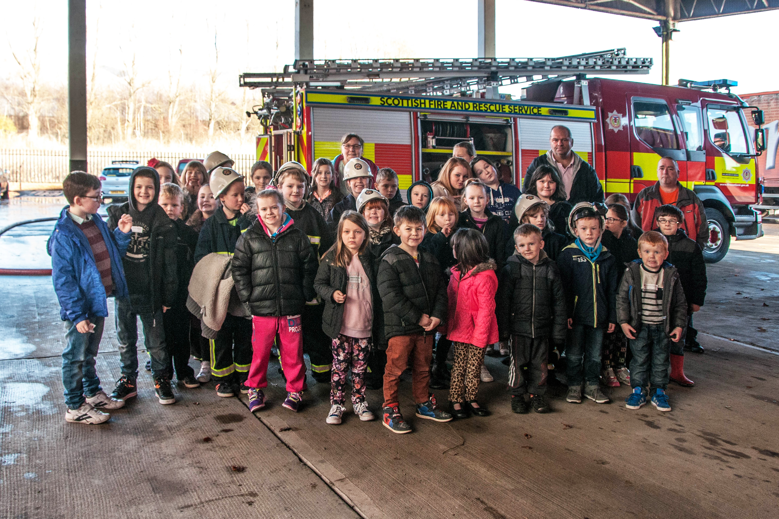 Alloa fire station says 'Thank you' to Hawkhill youth group