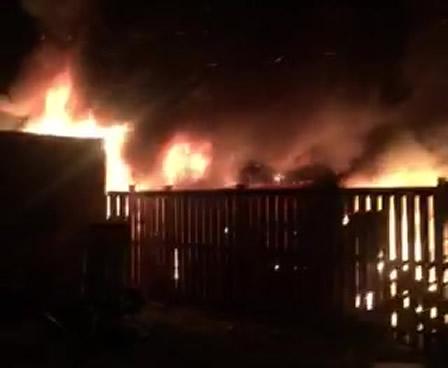 Garage fire in Alloa
