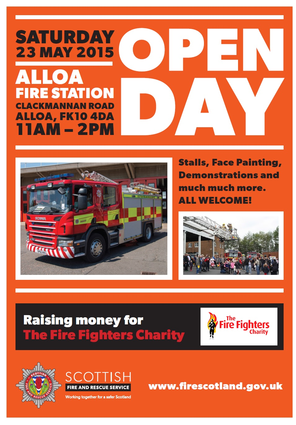 Open day at Alloa fire station
