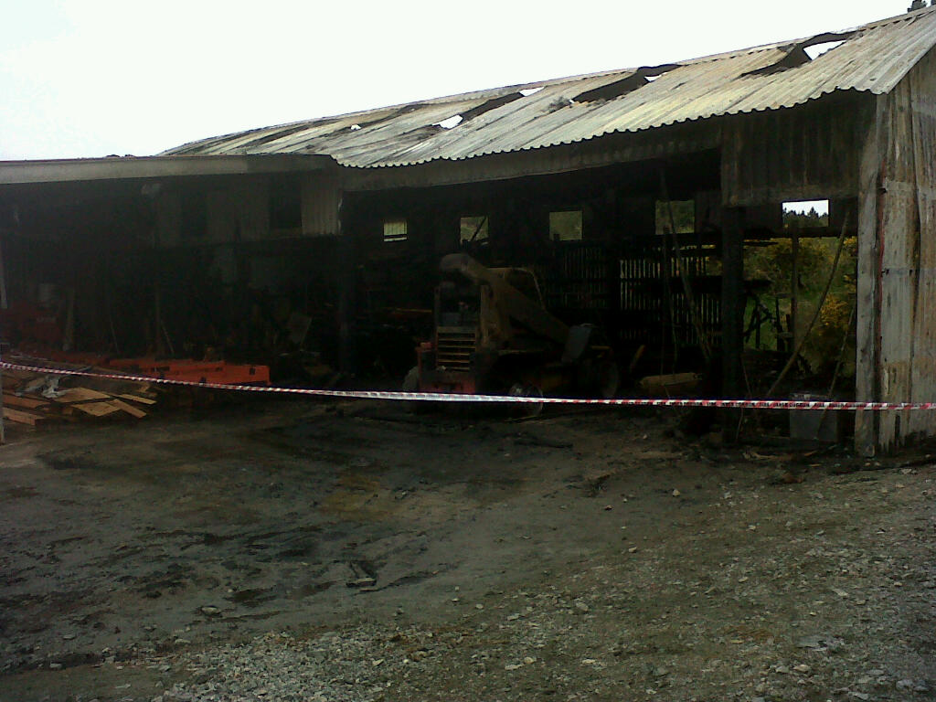 SFRS attended fire at Lews Castle College sawmill this morning