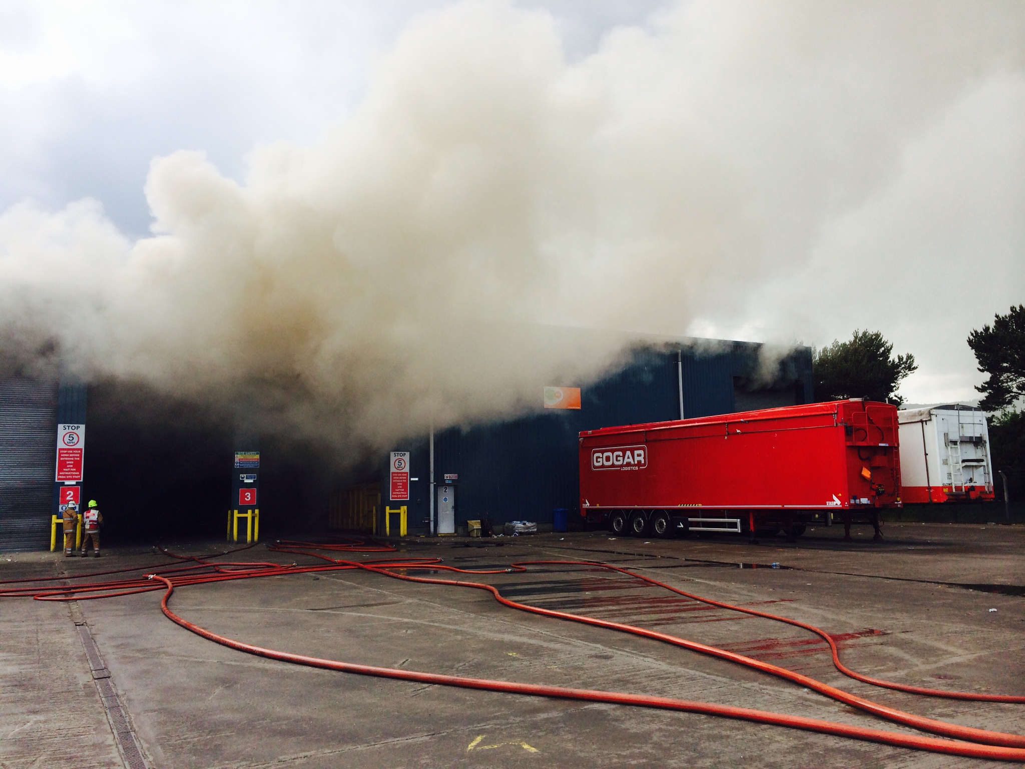 SFRS successfully tackled recyling centre fire in Inverness last night