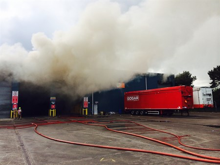 Inverness Recycling Centre Fire SFRS Photo